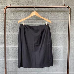 J. Crew Super 120s Navy Pencil Suit Skirt